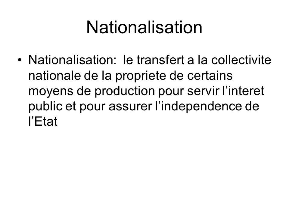 Nationalisation