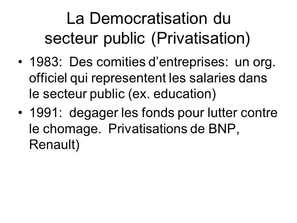 La Democratisation du secteur public (Privatisation)