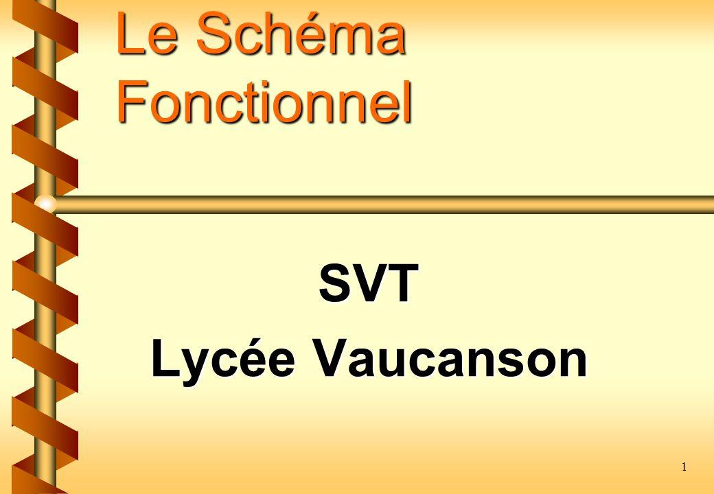 Le Schéma Fonctionnel SVT Lycée Vaucanson