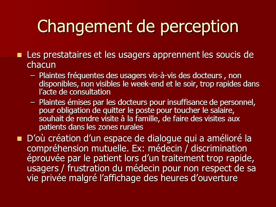 Changement de perception