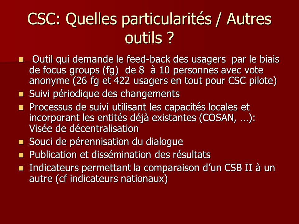 CSC: Quelles particularités / Autres outils