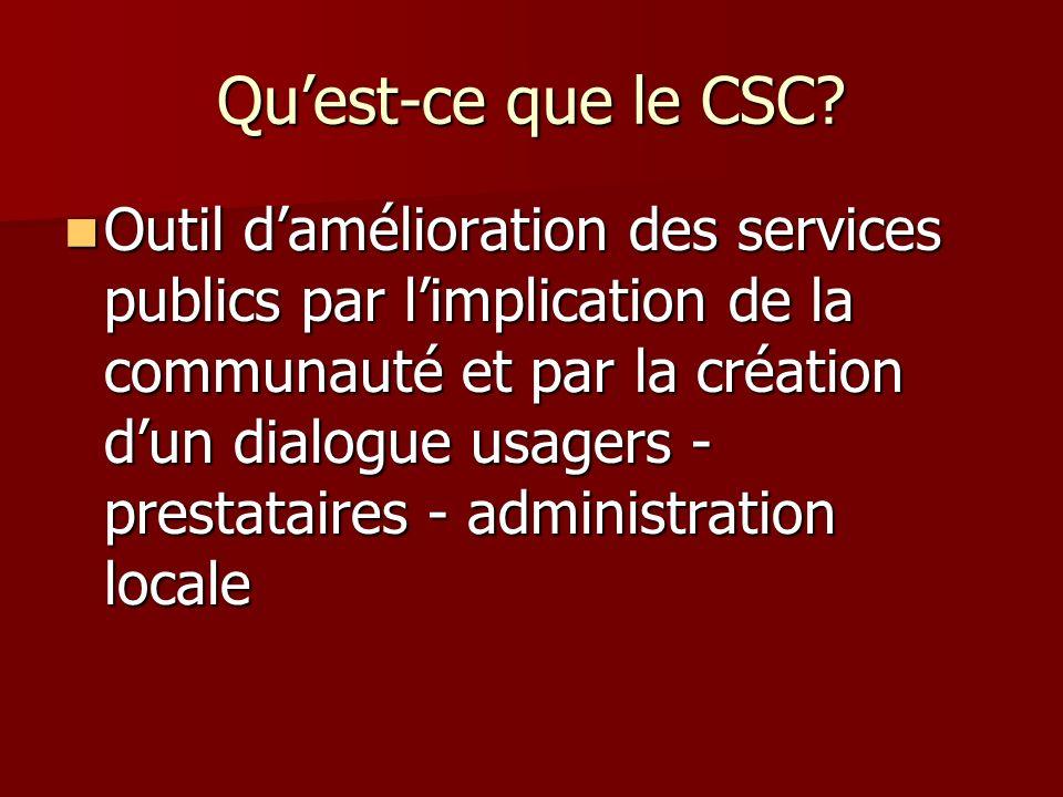 Qu'est-ce que le CSC