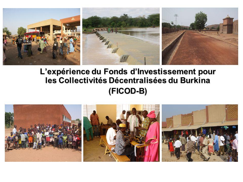 L'expérience du Fonds d'Investissement pour les Collectivités Décentralisées du Burkina