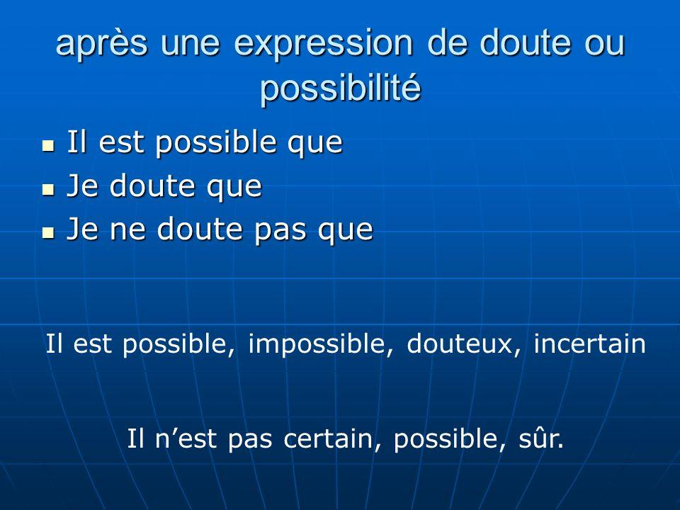 après une expression de doute ou possibilité