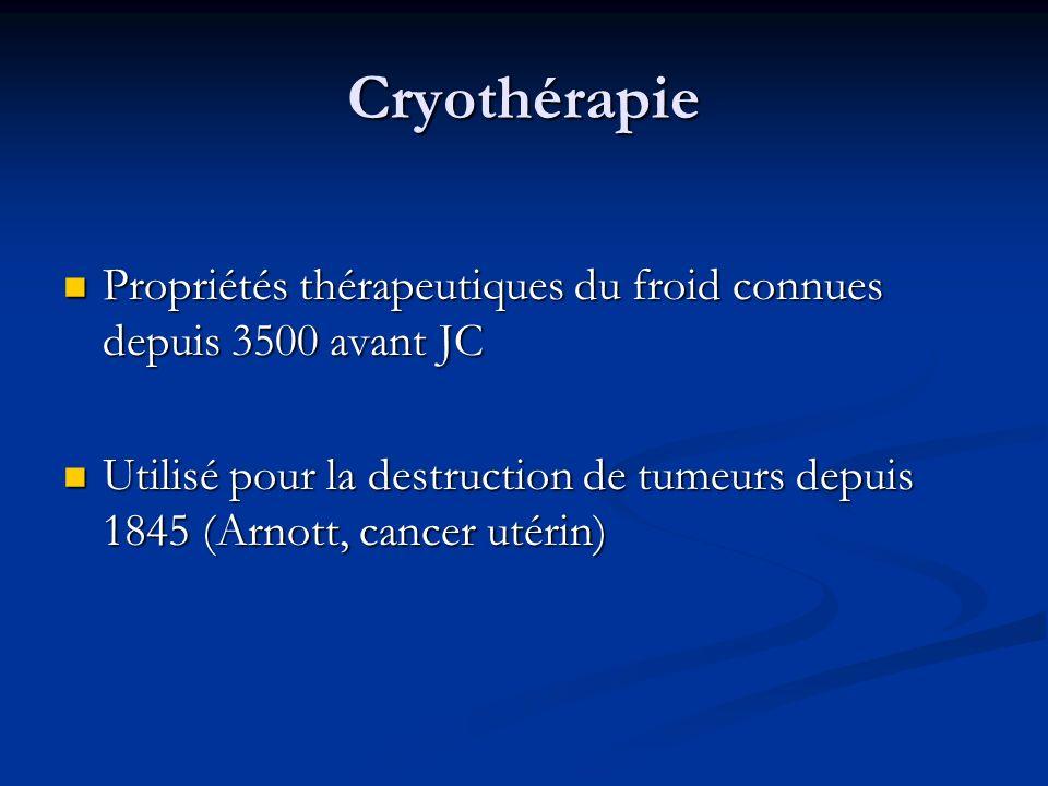 Cryothérapie Propriétés thérapeutiques du froid connues depuis 3500 avant JC.