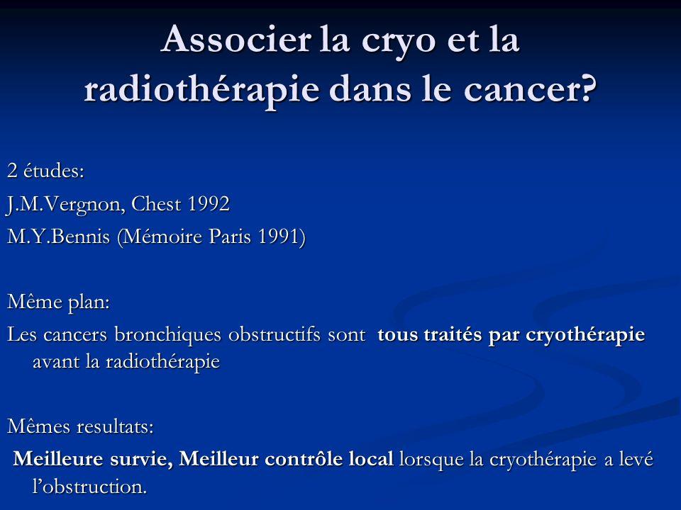 Associer la cryo et la radiothérapie dans le cancer