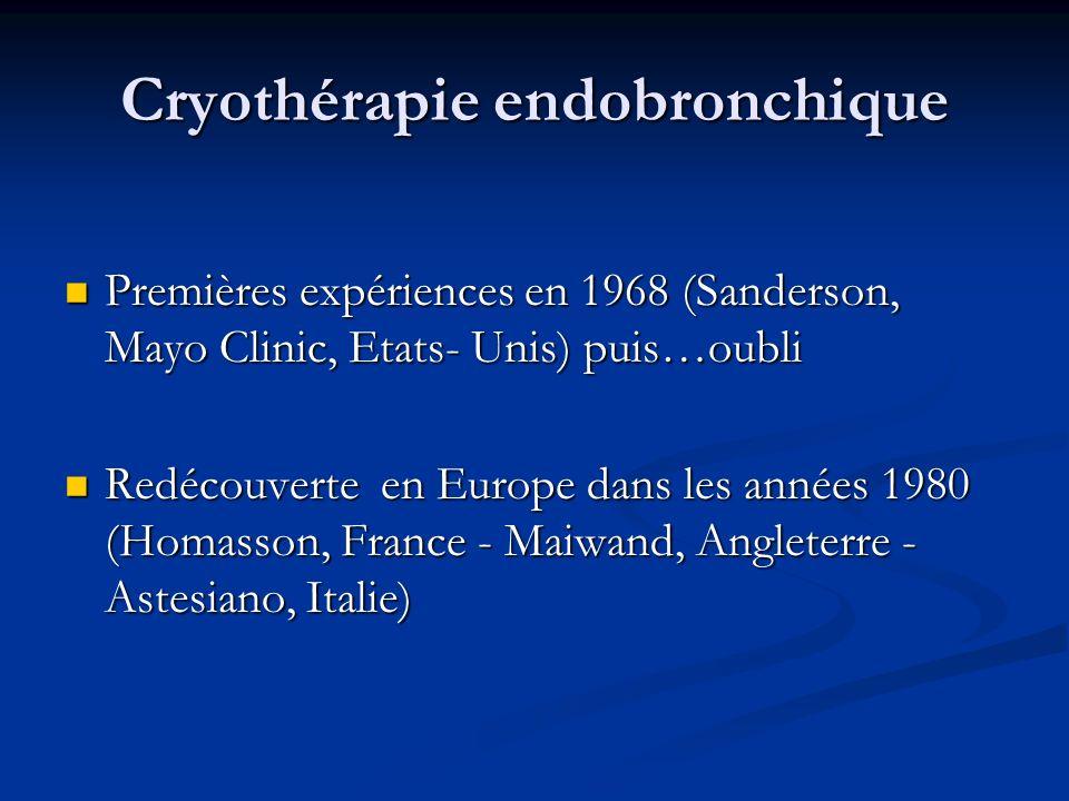 Cryothérapie endobronchique
