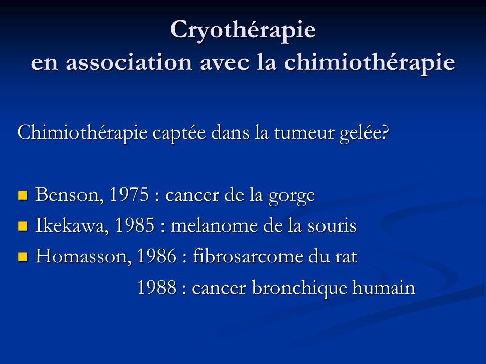 Cryothérapie en association avec la chimiothérapie