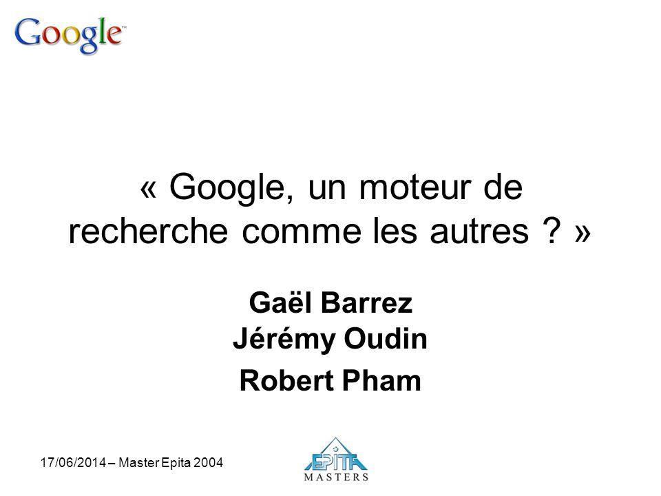 « Google, un moteur de recherche comme les autres »