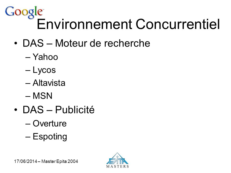 Environnement Concurrentiel