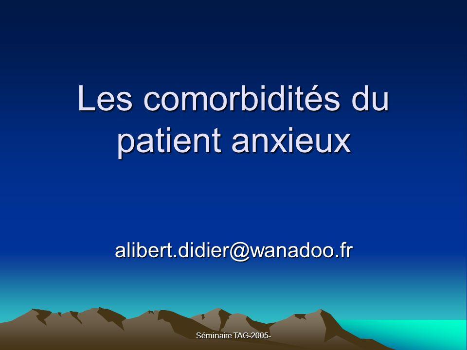 Les comorbidités du patient anxieux