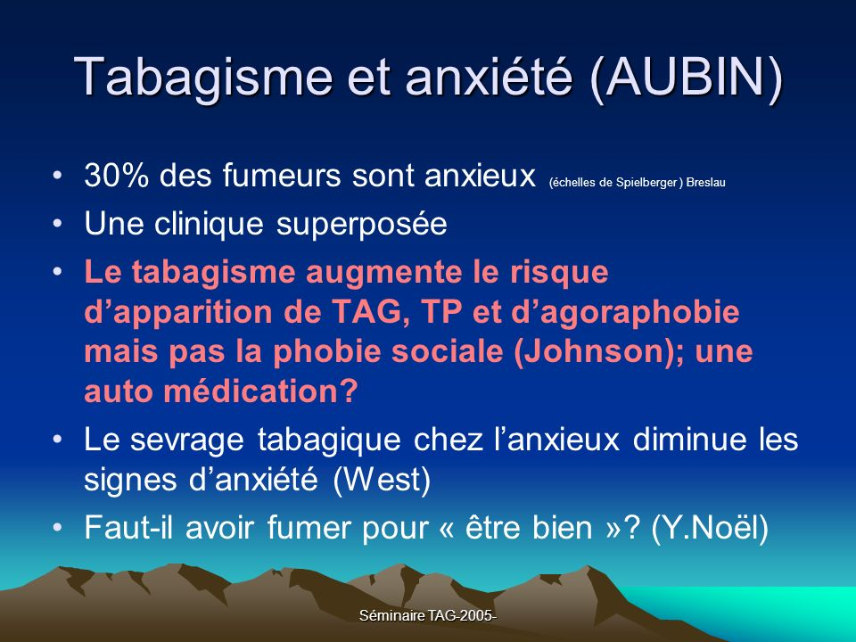 Tabagisme et anxiété (AUBIN)