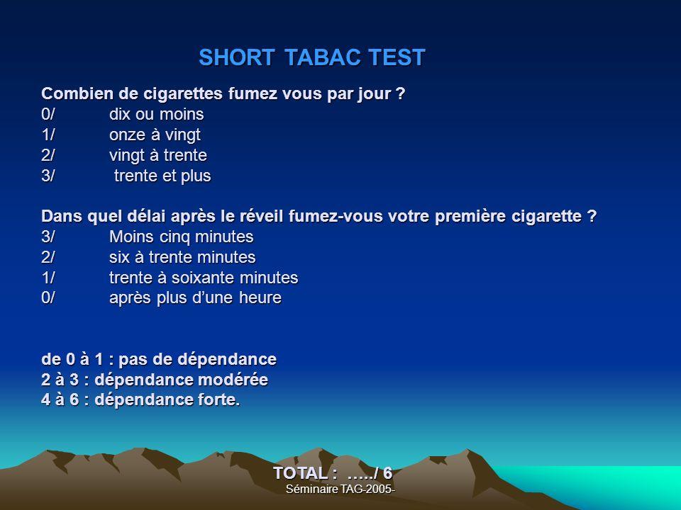 SHORT TABAC TEST