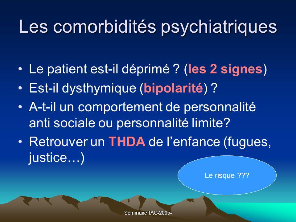Les comorbidités psychiatriques