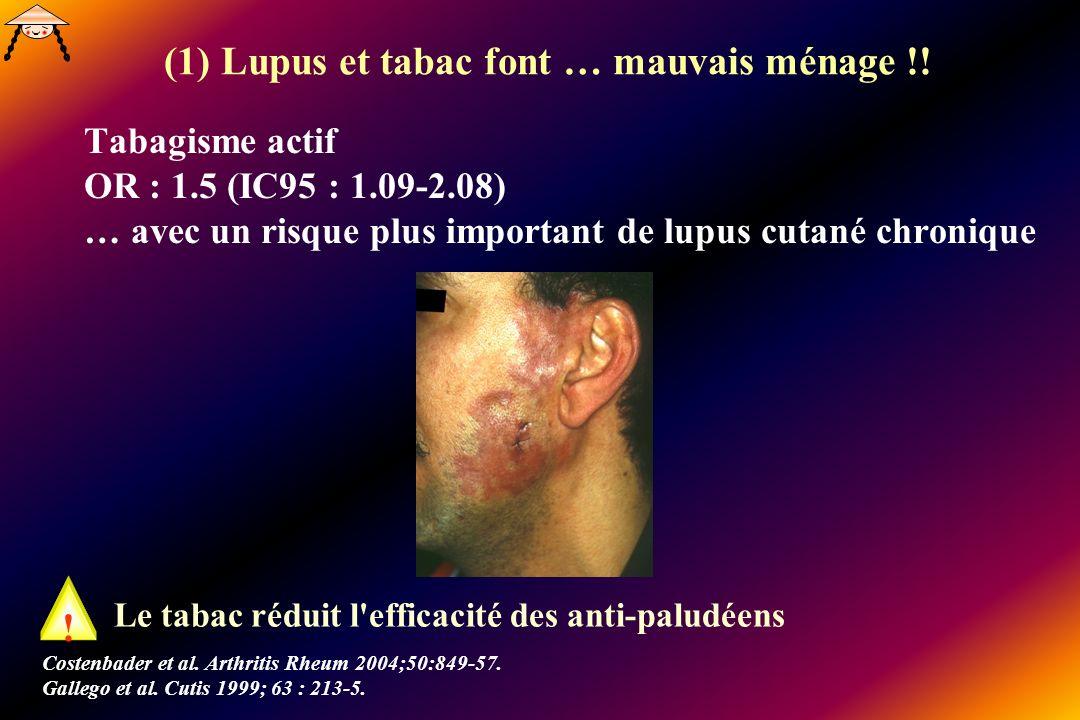 (1) Lupus et tabac font … mauvais ménage !!