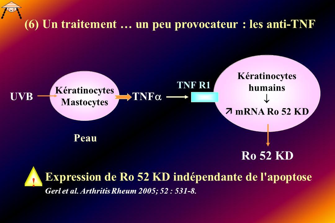 (6) Un traitement … un peu provocateur : les anti-TNF