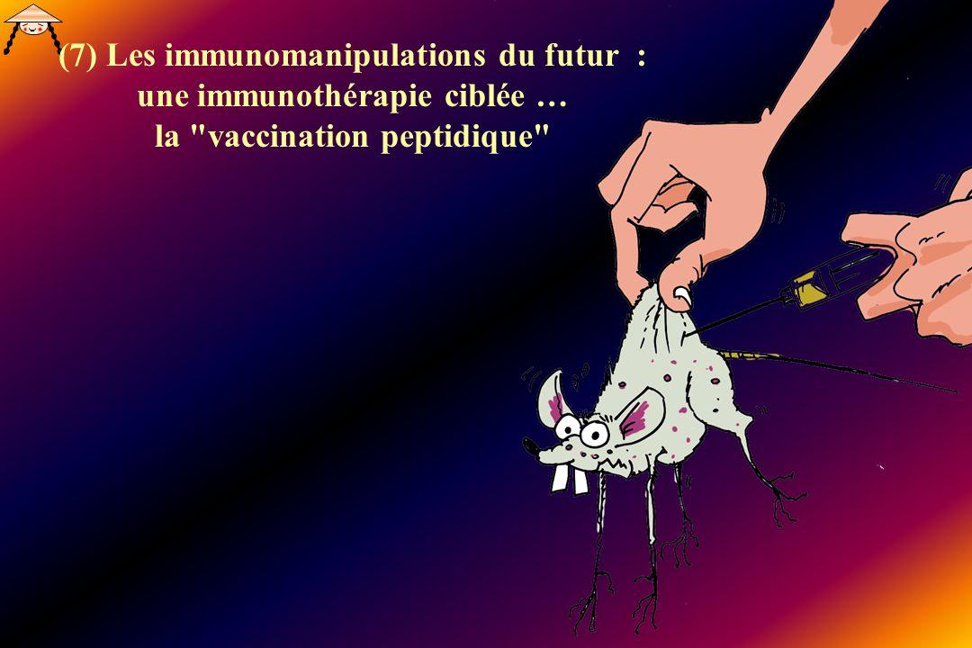 (7) Les immunomanipulations du futur : une immunothérapie ciblée … la vaccination peptidique