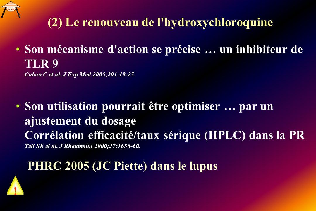 (2) Le renouveau de l hydroxychloroquine
