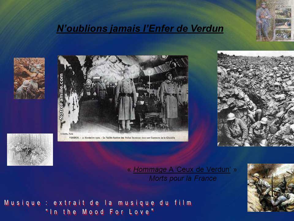 N'oublions jamais l'Enfer de Verdun