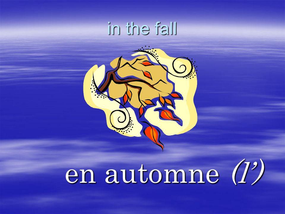 in the fall en automne (l')
