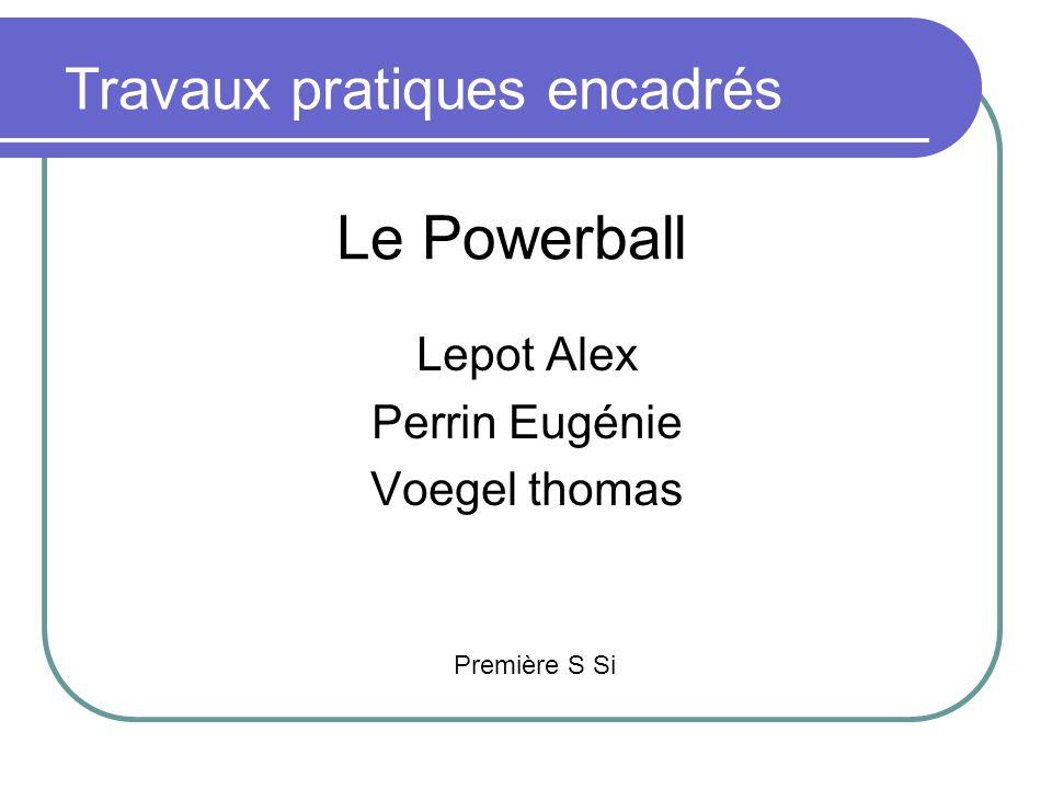 Le Powerball Travaux pratiques encadrés Lepot Alex Perrin Eugénie