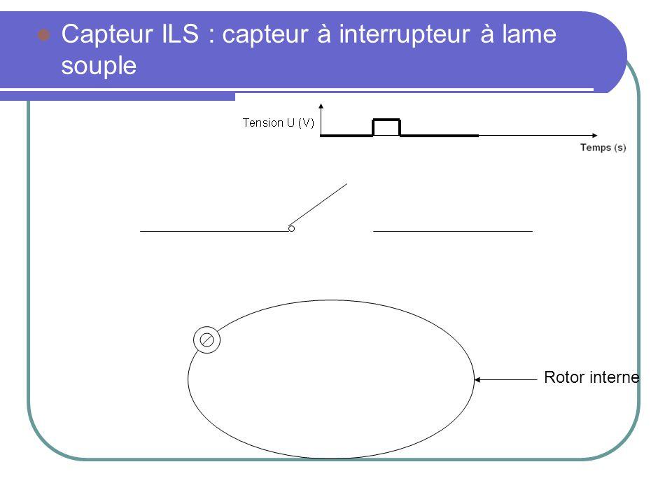 Capteur ILS : capteur à interrupteur à lame souple