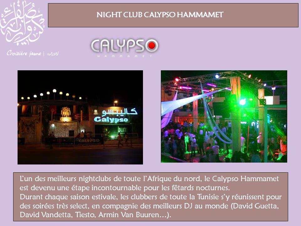 NIGHT CLUB CALYPSO HAMMAMET