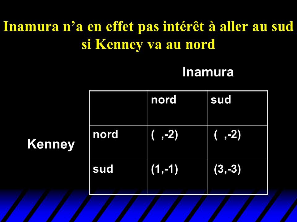 Inamura n'a en effet pas intérêt à aller au sud si Kenney va au nord