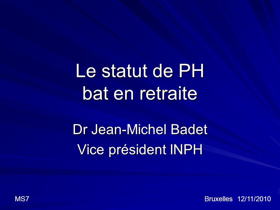 Le statut de PH bat en retraite