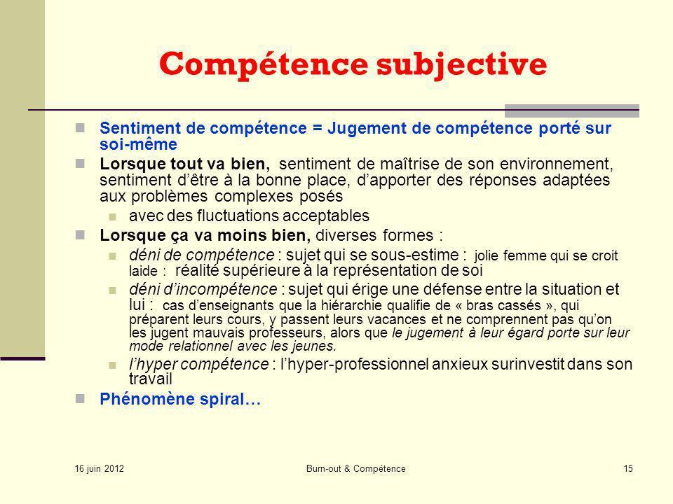 Compétence subjective