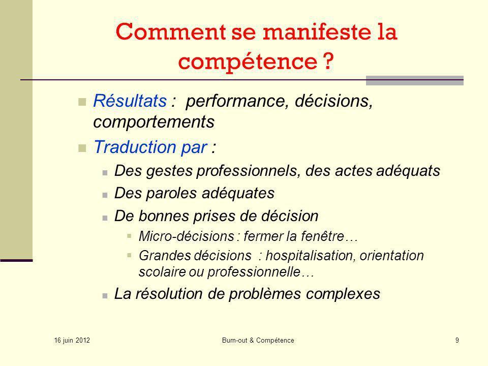 Comment se manifeste la compétence