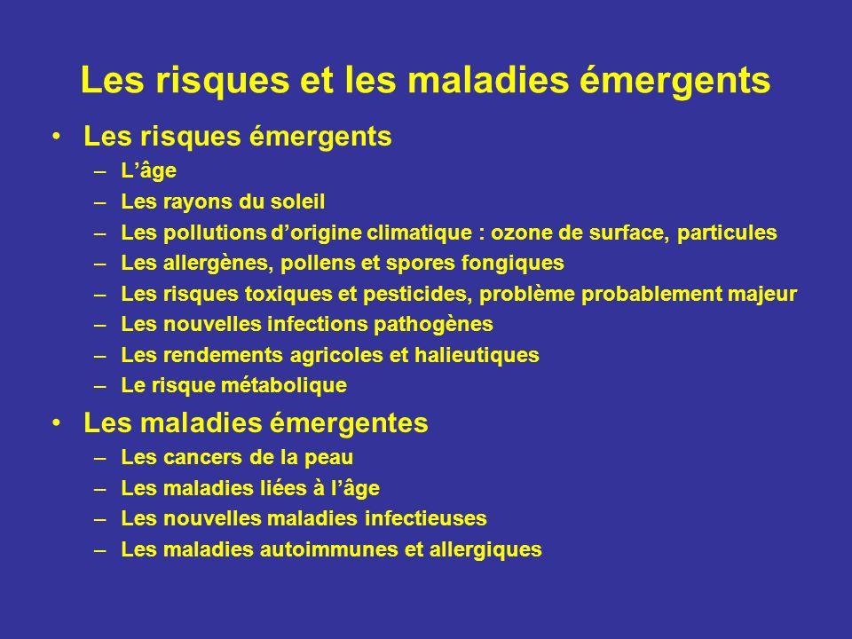 Les risques et les maladies émergents