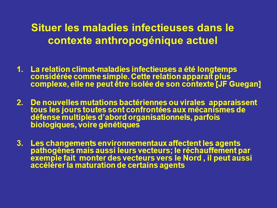 Situer les maladies infectieuses dans le contexte anthropogénique actuel