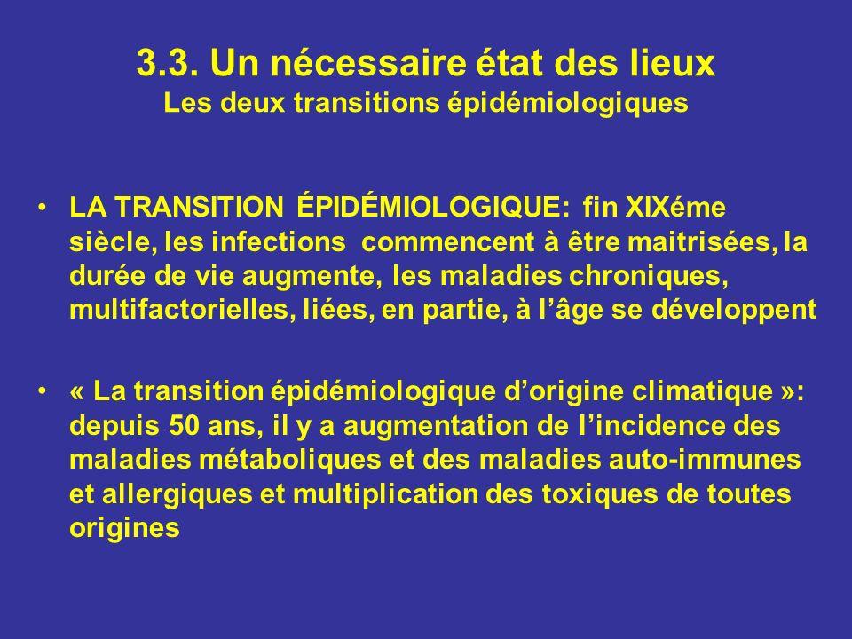 3.3. Un nécessaire état des lieux Les deux transitions épidémiologiques