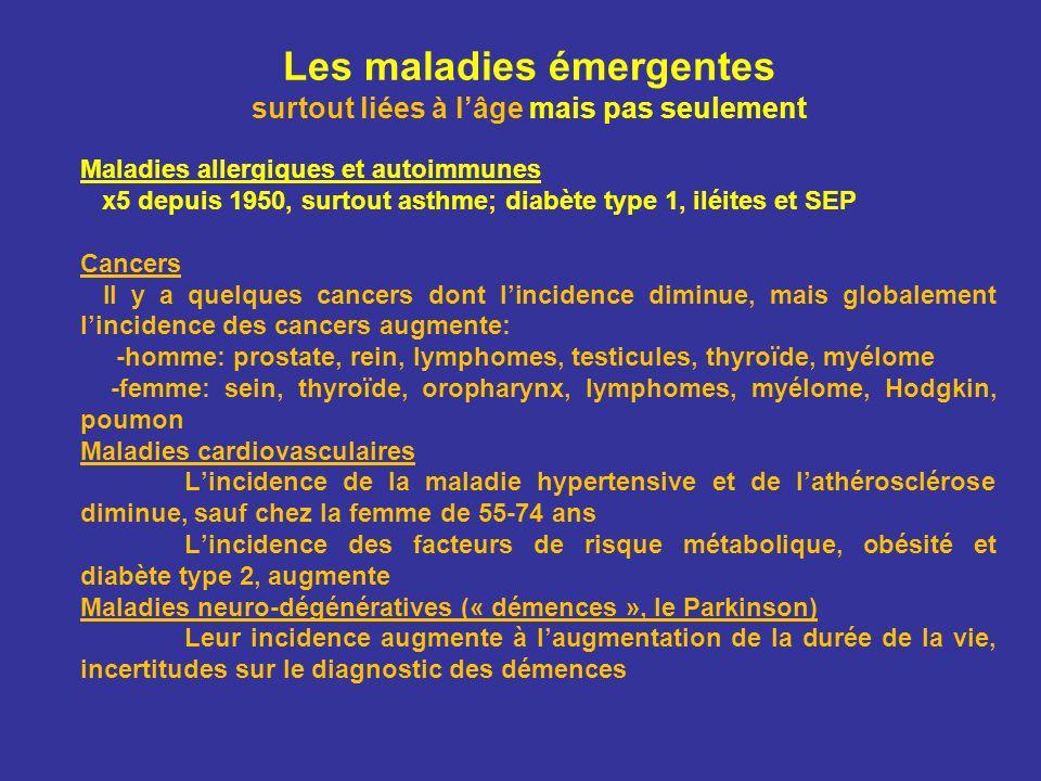 Les maladies émergentes surtout liées à l'âge mais pas seulement