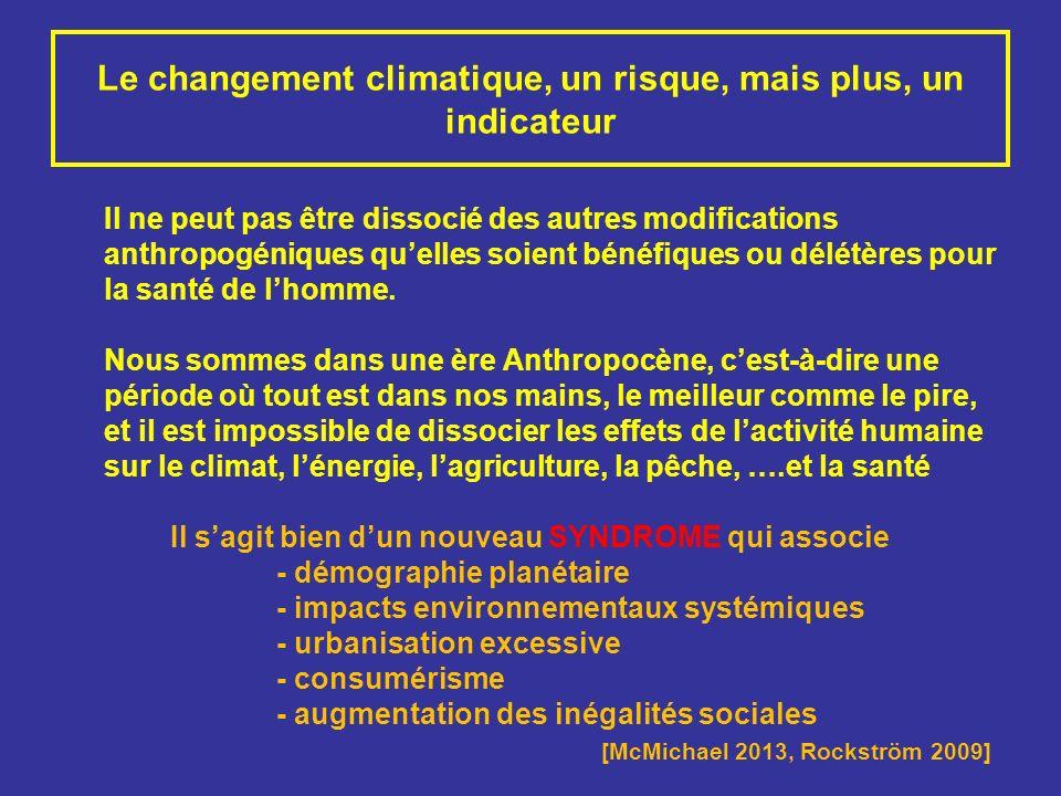 Le changement climatique, un risque, mais plus, un indicateur