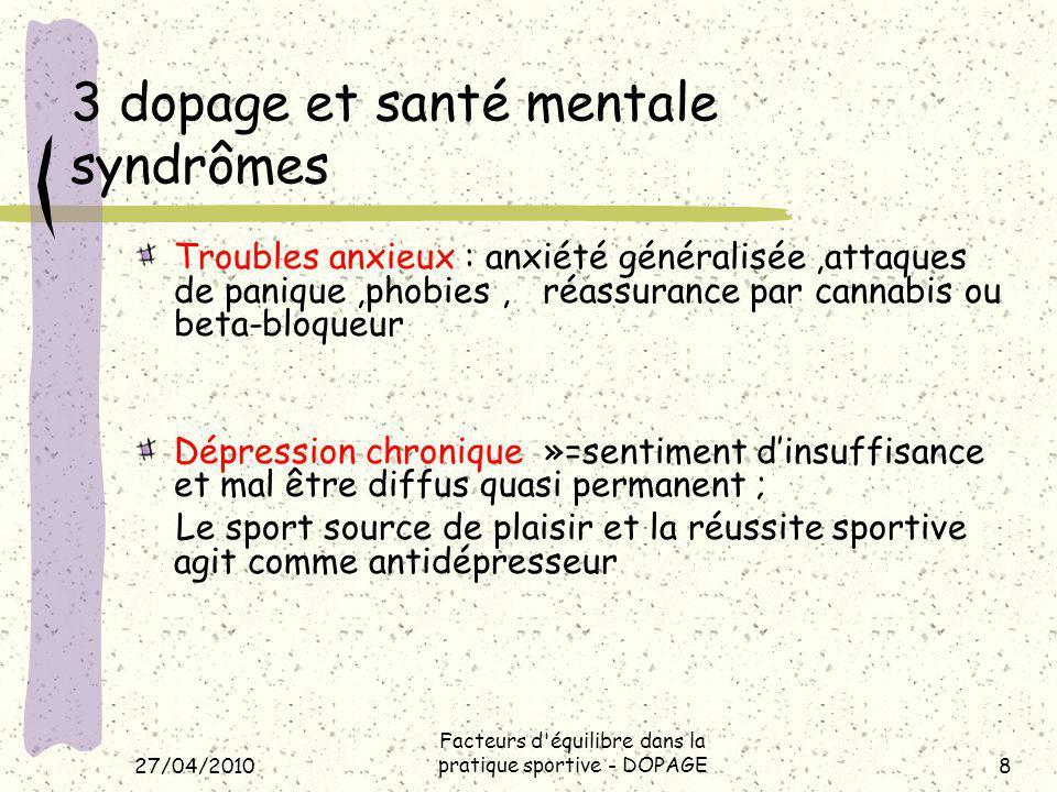 3 dopage et santé mentale syndrômes