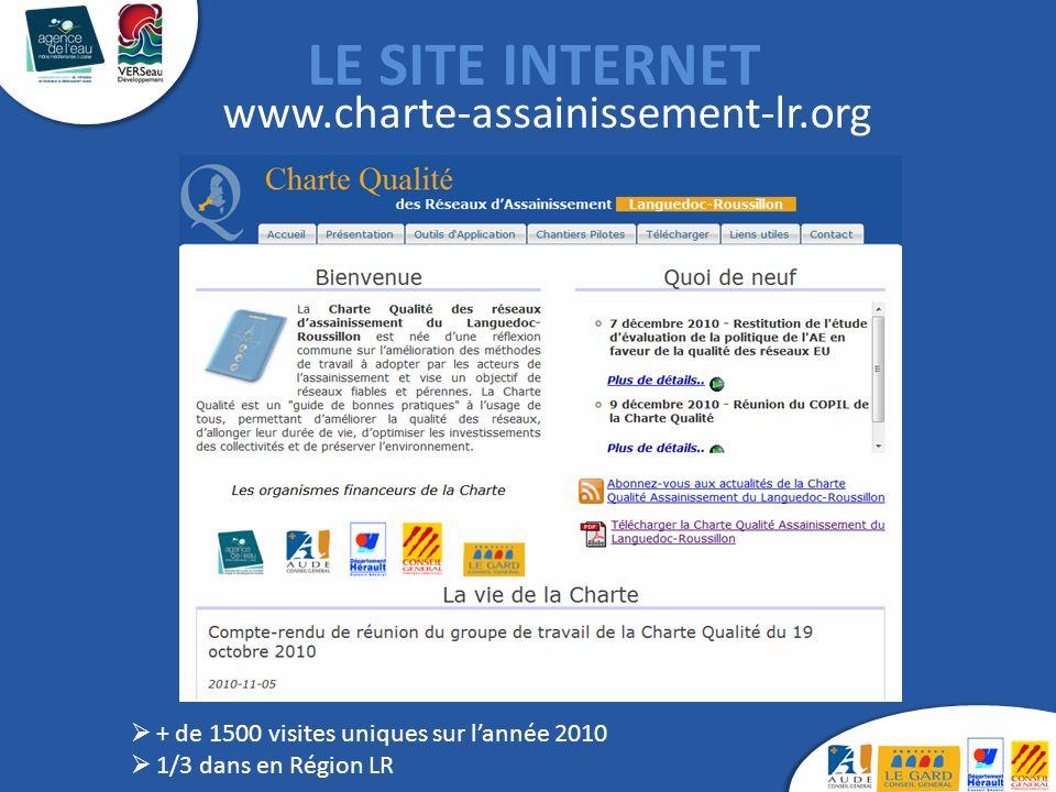 LE SITE INTERNET www.charte-assainissement-lr.org