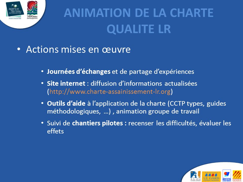 ANIMATION DE LA CHARTE QUALITE LR