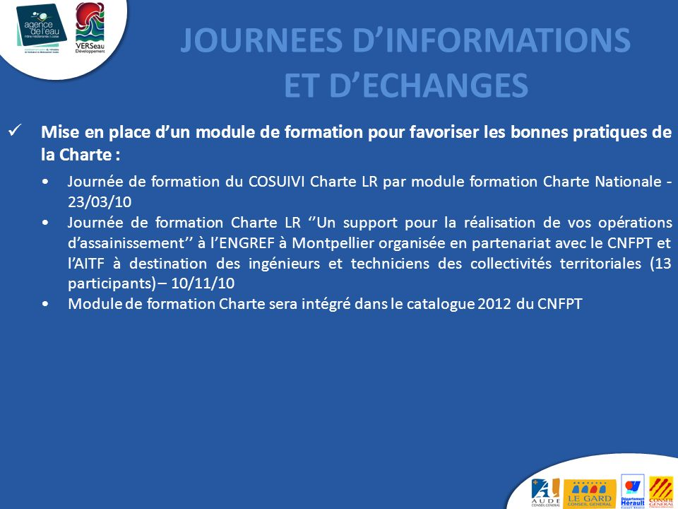 JOURNEES D'INFORMATIONS ET D'ECHANGES