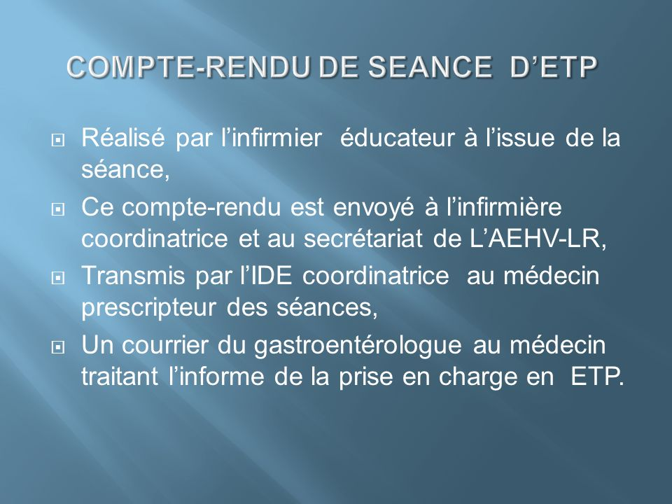 COMPTE-RENDU DE SEANCE D'ETP