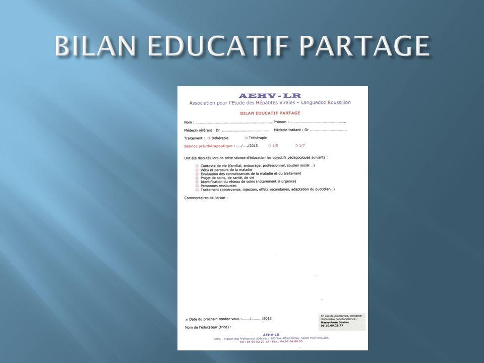 BILAN EDUCATIF PARTAGE