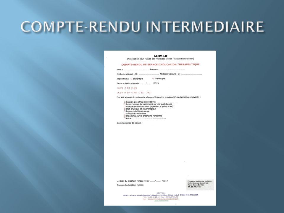 COMPTE-RENDU INTERMEDIAIRE