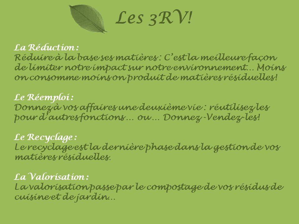 Les 3RV!La Réduction :
