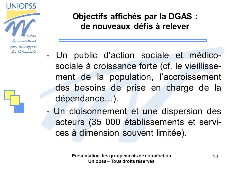 Objectifs affichés par la DGAS : de nouveaux défis à relever