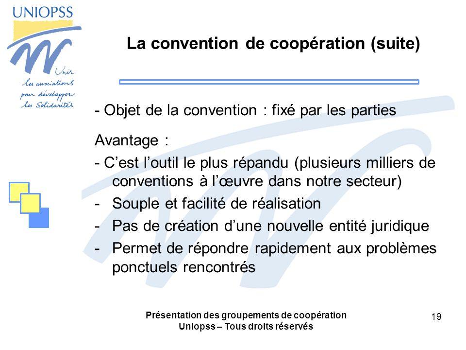La convention de coopération (suite)
