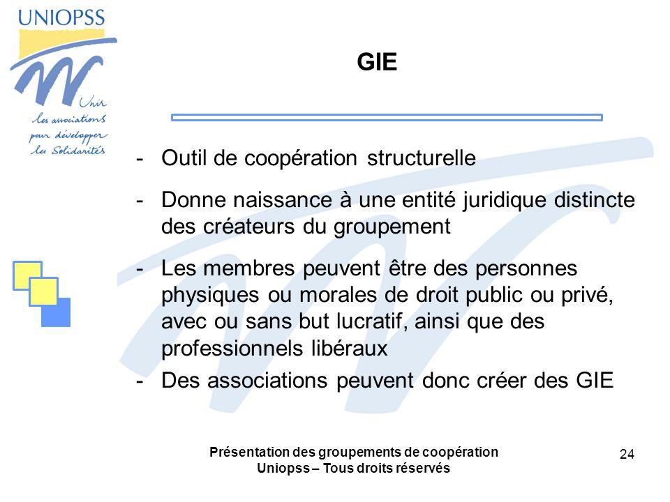 GIE Outil de coopération structurelle