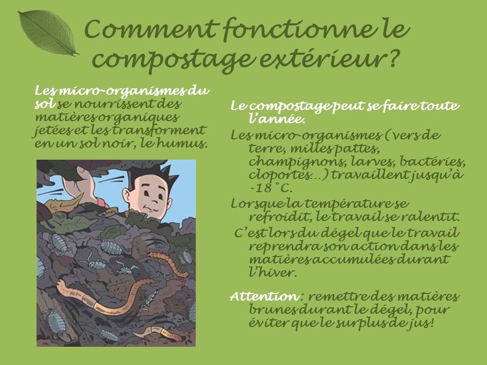 Comment fonctionne le compostage extérieur