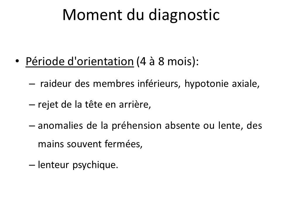 Moment du diagnostic Période d orientation (4 à 8 mois):