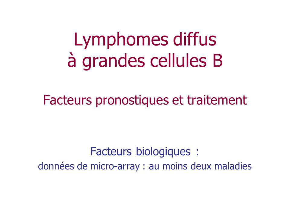 Facteurs biologiques : données de micro-array : au moins deux maladies